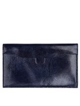 Кошелек Santoni UFPPA1374 100% кожа Темно-синий Италия изображение 1