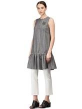 Платье Brunello Cucinelli AS501 54% шерсть, 46% лён Серый Италия изображение 2