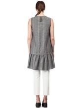 Платье Brunello Cucinelli AS501 54% шерсть, 46% лён Серый Италия изображение 3
