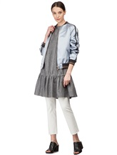 Платье Brunello Cucinelli AS501 54% шерсть, 46% лён Серый Италия изображение 0