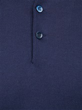 Поло Brunello Cucinelli 81125 100% хлопок Темно-синий Италия изображение 4