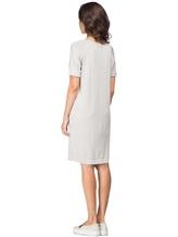 Платье Andre Maurice 170021 100%хлопок Серо-бежевый Италия изображение 3