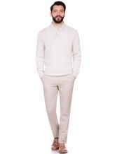 Брюки Brunello Cucinelli L001 49% лён, 32% шерсть, 19% шёлк Светло-бежевый Италия изображение 0