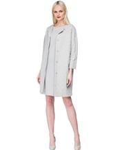 Пальто EREDA EDC070 90% хлопок, 7% полиамид, 3% эластан Серый Италия изображение 1