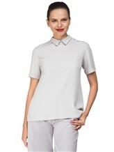 Блуза ANTONELLI B0L0GNAT2431 52% шёлк, 48% ацетат Светло-серый Италия изображение 0