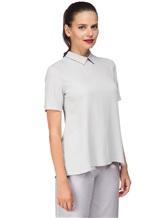 Блуза ANTONELLI B0L0GNAT2431 52% шёлк, 48% ацетат Светло-серый Италия изображение 2