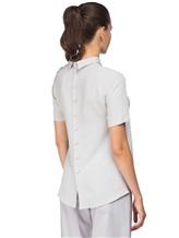 Блуза ANTONELLI B0L0GNAT2431 52% шёлк, 48% ацетат Светло-серый Италия изображение 3
