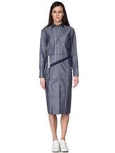 Платье Semi COUTURE P7EM05 100%хлопок Серо-синий Италия изображение 1