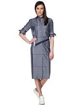 Платье Semi COUTURE P7EM05 100%хлопок Серо-синий Италия изображение 0