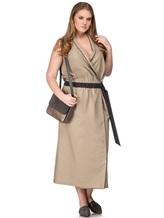 Платье Brunello Cucinelli A4267 75% хлопок, 25% нейлон Бежевый Италия изображение 0