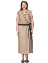 Платье Brunello Cucinelli A4267 75% хлопок, 25% нейлон Бежевый Италия изображение 1