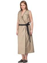 Платье Brunello Cucinelli A4267 75% хлопок, 25% нейлон Бежевый Италия изображение 2