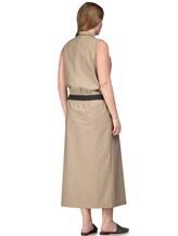 Платье Brunello Cucinelli A4267 75% хлопок, 25% нейлон Бежевый Италия изображение 3