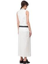 Платье Brunello Cucinelli A4267 75% хлопок, 25% нейлон Белый Италия изображение 3