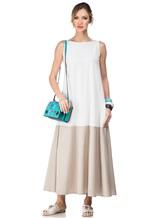 Платье Re Vera 17002017 89% шёлк, 11% эластан Бело-бежевый Италия изображение 0