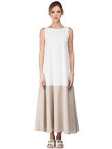 Платье Re Vera 17002017 89% шёлк, 11% эластан Бело-бежевый Италия изображение 1