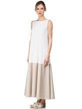 Платье Re Vera 17002017 89% шёлк, 11% эластан Бело-бежевый Италия изображение 2
