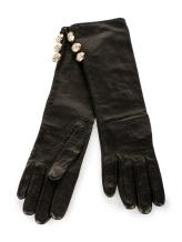 Перчатки Francesco Scognamiglio GU51 100% кожа Черный Италия изображение 0