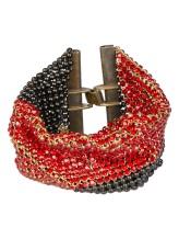 Браслет LauraB LA VIE EN ROUGE/A 100% металл Черно-красный Италия изображение 0