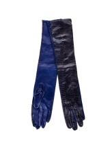 Перчатки PORTS PW313AGL02 100% кожа Синий Италия изображение 0