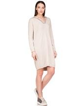 Платье Brunello Cucinelli 158A99 100% кашемир Светло-бежевый Италия изображение 0