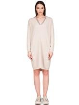 Платье Brunello Cucinelli 158A99 100% кашемир Светло-бежевый Италия изображение 1