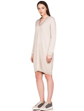 Платье Brunello Cucinelli 158A99 100% кашемир Светло-бежевый Италия изображение 2