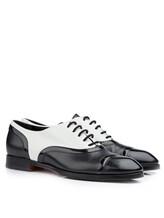 Туфли Santoni WURV55828 100% кожа Черно-белый Италия изображение 0