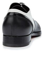 Туфли Santoni WURV55828 100% кожа Черно-белый Италия изображение 3