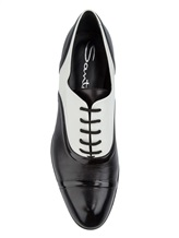 Туфли Santoni WURV55828 100% кожа Черно-белый Италия изображение 4