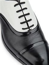 Туфли Santoni WURV55828 100% кожа Черно-белый Италия изображение 5