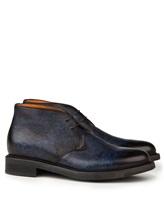 Ботинки Santoni MGWB10002 100% кожа Темно-синий Италия изображение 0