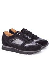 Кроссовки Santoni WBHY60092 100% кожа Черный Италия изображение 0