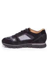 Кроссовки Santoni WBHY60092 100% кожа Черный Италия изображение 2