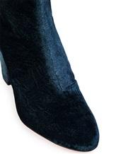 Полусапожки Santoni WTVX56262 100% текстиль Бело-черный Италия изображение 6
