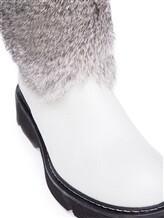 Сапоги Henry Beguelin SD2898 50% кожа, 50% мех(кролик) Светло-серый Италия изображение 5