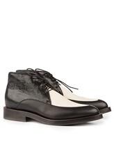Ботинки Brunello Cucinelli 209 100% кожа Черно-белый Италия изображение 0