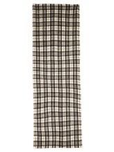 Палантин Brunello Cucinelli 015 50% шерсть, 50% альпака Черно-белый Италия изображение 2