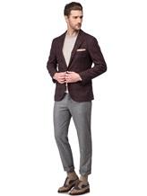 Пиджак Brunello Cucinelli 7BTD 95% шерсть, 5% кашемир Бордово-коричневый Италия изображение 1