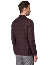 Пиджак Brunello Cucinelli 7BTD 95% шерсть, 5% кашемир Бордово-коричневый Италия изображение 4