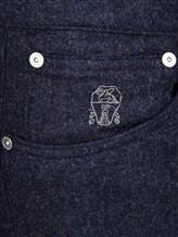 Брюки Brunello Cucinelli F1070 100% шерсть Темно-синий Италия изображение 4