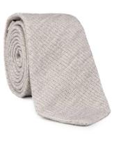 Галстук Brunello Cucinelli 0018 90% шерсть 10% шёлк Светло-серый Италия изображение 1