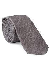 Галстук Brunello Cucinelli 0018 90% шерсть 10% шёлк Серый Италия изображение 0