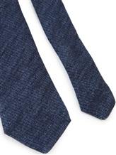 Галстук Brunello Cucinelli 0018 90% шерсть 10% шёлк Темно-синий Италия изображение 1