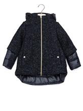 Пальто Herno GC006G 31% шерсть, 25% акрил, 20% полиэстер, 8% альпака, 8% полиамид, 8% мохер Темно-синий Румыния изображение 0