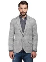 Пиджак Brunello Cucinelli 7BTD 43% шерсть, 42% альпака, 12% полиамид, 3% кашемир Светло-серый Италия изображение 2