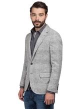 Пиджак Brunello Cucinelli 7BTD 43% шерсть, 42% альпака, 12% полиамид, 3% кашемир Светло-серый Италия изображение 3