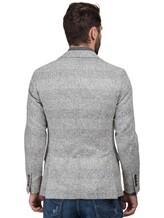 Пиджак Brunello Cucinelli 7BTD 43% шерсть, 42% альпака, 12% полиамид, 3% кашемир Светло-серый Италия изображение 4