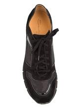 Кроссовки Santoni MBHY20210 100% кожа Черный Италия изображение 4