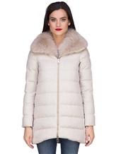 Куртка Herno PI0379D 51% шёлк, 49% кашемир Светло-бежевый Италия изображение 1